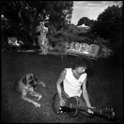 David Michael Kennedy, 'Bob Dylan in His Backyard', 1985