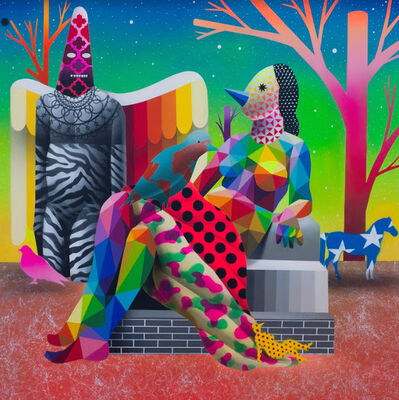 Okuda San Miguel, 'World Can't Fly Without Shaman', 2018