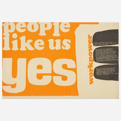 Corita Kent, 'people like us yes', 1965