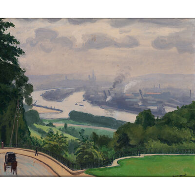 Albert Marquet, 'Canteleu, Rouen, rainy weather', 1927