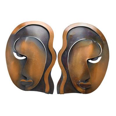 Francisco Rebajes, 'Two female masks'