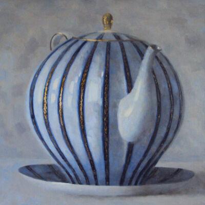 Olga Antonova, 'Blue & Gold Teapot', 2017