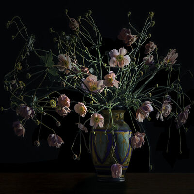 T.M. Glass, 'Japanese Anemones in an Arts and Crafts Movement Vase'