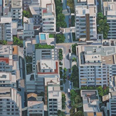 Ralph Fleck, 'Stadtbild 5/VII (Athen)', 2018