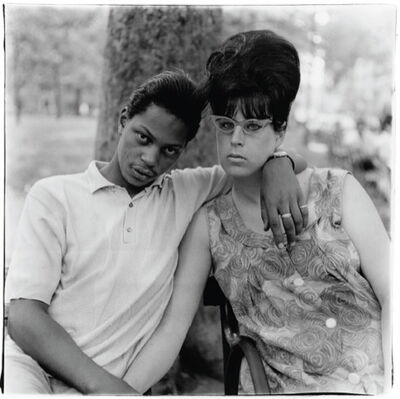 Diane Arbus, 'A young man and his pregnant wife in Washington Square Park, N.Y.C', 1965