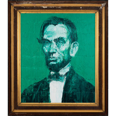 Hunt Slonem, 'Abraham Lincoln', 2019