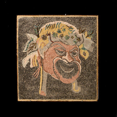 Unknown Roman, 'Roman Mosaic Depicting a Theatrical Mask', 100 AD to 300 AD