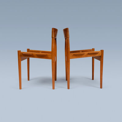 Grete Jalk, 'Pair of rare side chairs in fumed oak', ca. 1956