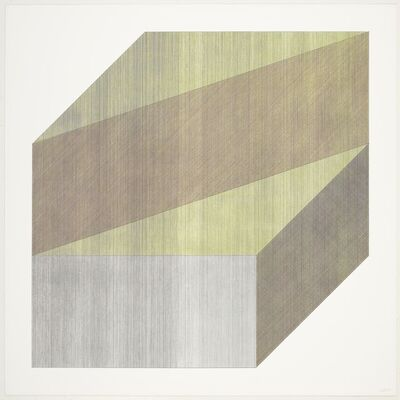 Sol LeWitt, 'Form derived from a cube with lines in our directions & four colors', 1984