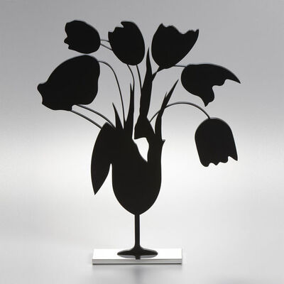 Donald Sultan, 'Black Tulips and Vase, April 5, 2014', 2014