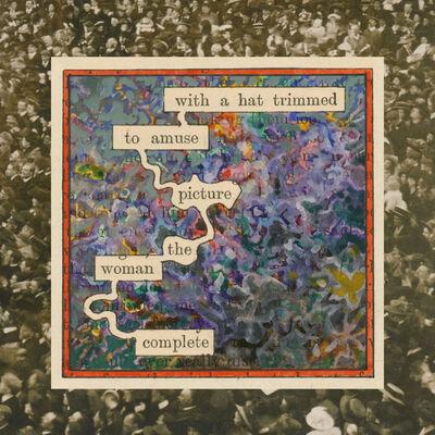 Tom Phillips, 'Humument Fragments: Hats (Vintage People on Photo Postcards)', 2010