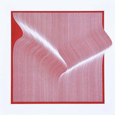 Roberto lucchetta, 'White Red Surface', 2019