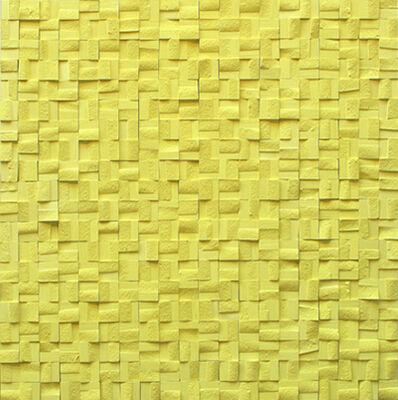 Reiner Seliger, 'Kreidebild gelb', 2019