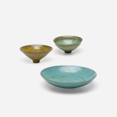 Gertrud Natzler, 'collection of three vessels', 1960-1967
