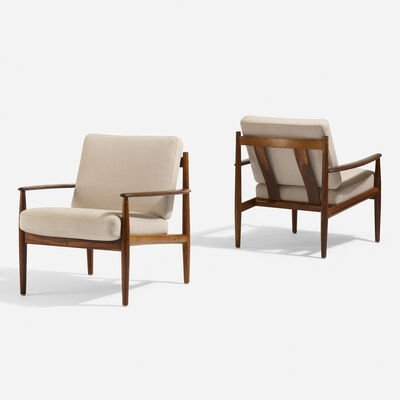 Grete Jalk, 'Lounge chairs model 118, pair', c. 1960