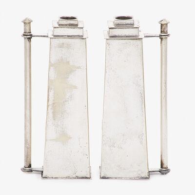 Louis W. Rice, 'Pair of Skyscraper candlesticks, New York'