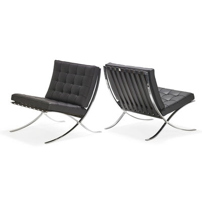 Knoll Inc., 'Pair of Barcelona chairs, USA', 2000s