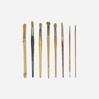 From the studio of Paul Rand, 'collection of eight paint brushes'
