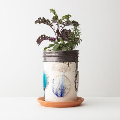 Nicole Cherubini, 'Bucket with Small Plants and Greens', 2020
