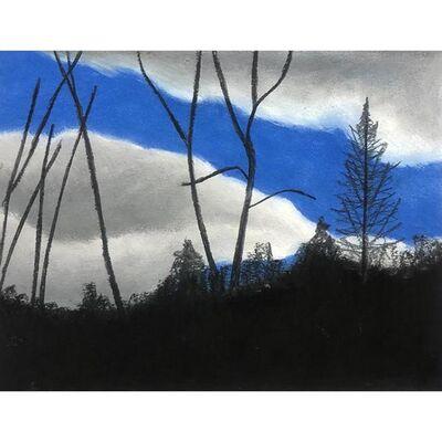 "Jacqueline Sferra Rada, '""Black & Blue Series IV""', 2021"