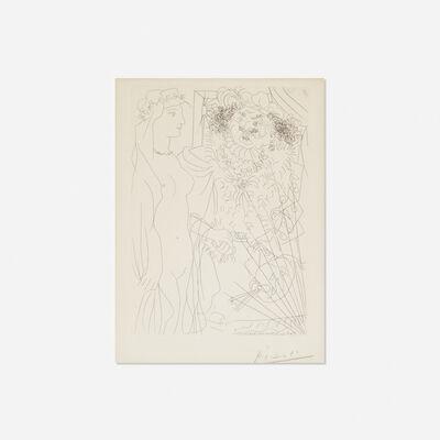 Pablo Picasso, 'Rembrandt et Femme au Voile from La Suite Vollard', 1934