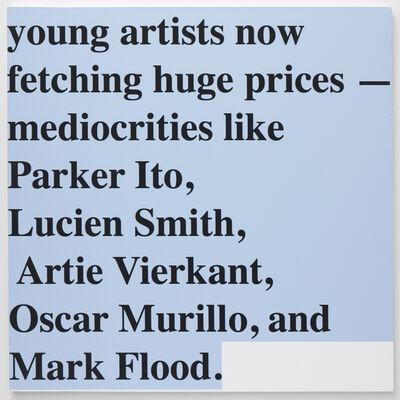 Mark Flood, 'Saltz's List [black]', 2014