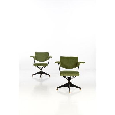 B.B.P.R., 'Spazio Series; Pair of armchairs', circa 1960