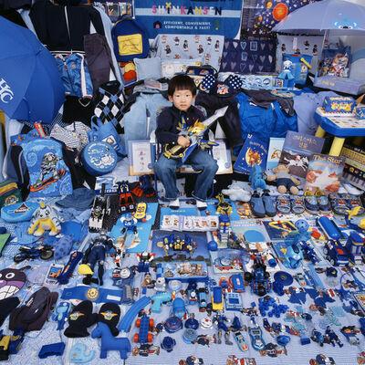 JeongMee Yoon, 'Kihun and His Blue Things', 2007