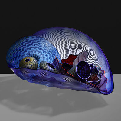 Dale Chihuly, 'large Imperial Blue and Purple Seaform Set', 2001
