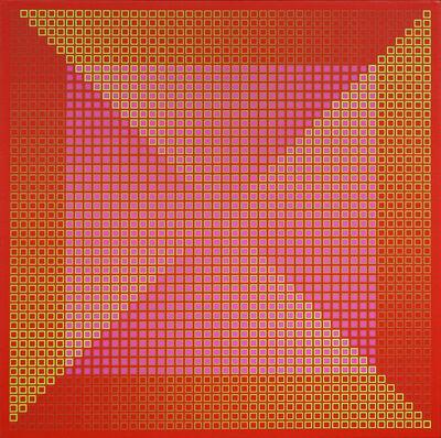 Julian Stanczak, 'Centered Duality Red II ', 1981