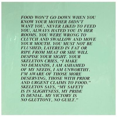 "Jenny Holzer, 'Food, ""Inflammatory Essay"" (from Documenta 1982)', 1982"
