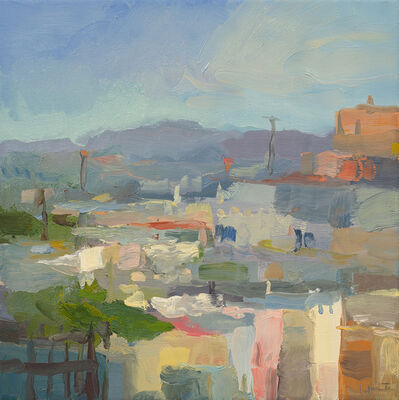 Christine Lafuente, 'Rooftops and Distant Mountains', 2020