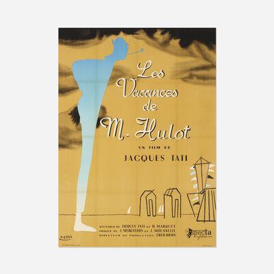 Pierre Etaix, 'Les Vacances de Monsieur Hulot film poster', 1953