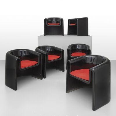 Rodolfo Bonetto, 'A set of six armchairs', 1969