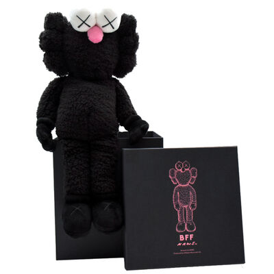 KAWS, 'BFF Plush (Black)', 2019