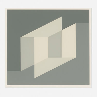 Josef Albers, 'Never Before A (from the Never Before portfolio)', 1975
