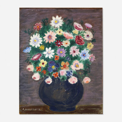 Abraham Walkowitz, 'Untitled (still life with flowers)'