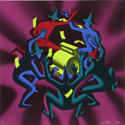 Mark Kostabi, 'Cash Dance, 1990 by Mark Kostabi', 1990