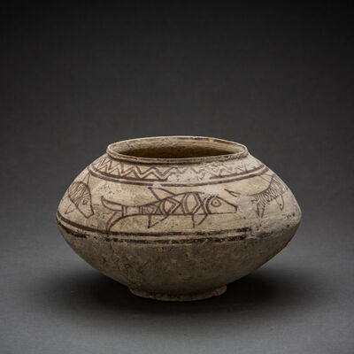 Unknown Asian, 'Indus Valley Terracotta Bowl with Fish Motif', 3000 BCE-2000 BCE