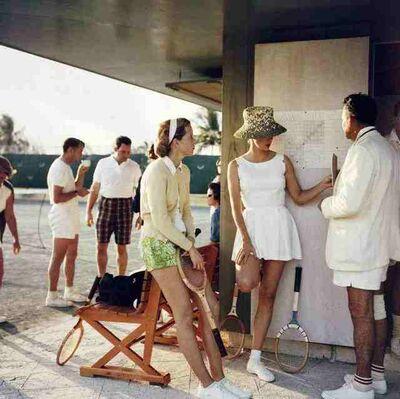 Slim Aarons, 'Tennis in the Bahamas', 1956