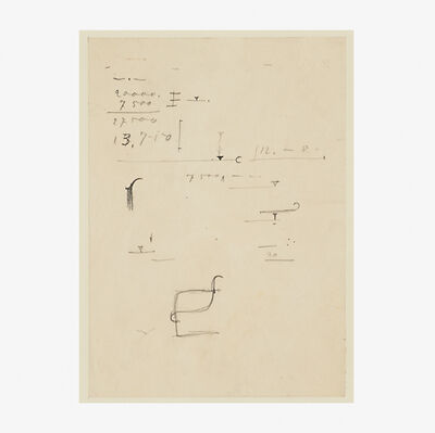 Ludwig Mies van der Rohe, 'Chair study (framed)', ca. 1935