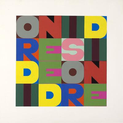 Alighiero Boetti, 'Ordine e Disordine', 1980