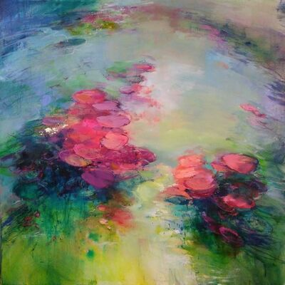 Magdalena Morey, 'Out of my Depths VII - abstract water floral landscape', 2019