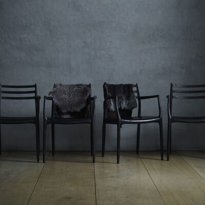 Niels Otto Møller, 'dining chairs, set of four'