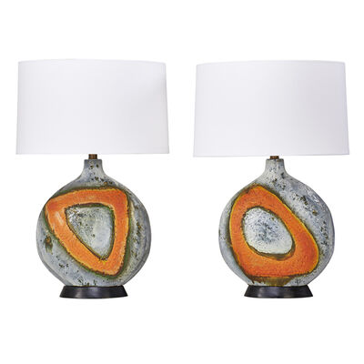 Fantoni, 'Pair Of Table Lamps, Italy', 1950s
