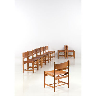 Börge Mogensen, 'Model 3237,  Set of ten chairs', 1960s