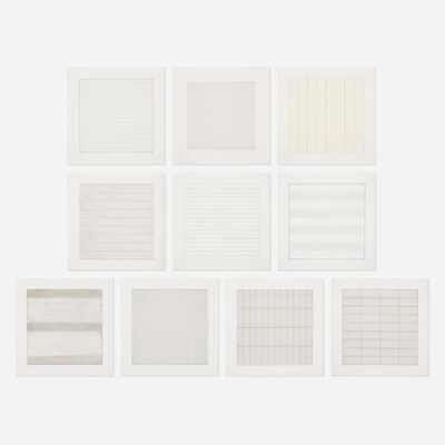 Agnes Martin, 'Paintings and Drawings: Stedelijk Museum Portfolio (ten works)', 1990-91