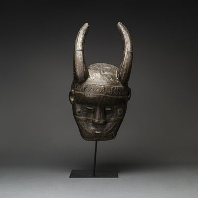 Unknown African, 'Malinke Wooden Horned Mask', 20th Century AD