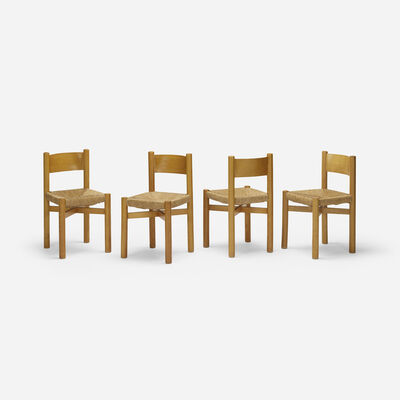 Charlotte Perriand, 'dining chairs, set of four', 1941