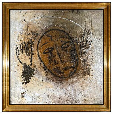 Jamali, 'JAMALI Large Original Fresco Tempera Painting Abstract Portrait Signed Artwork', 20th Century